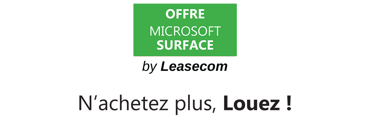 Header Offre Microsoft Surface LapTop 2