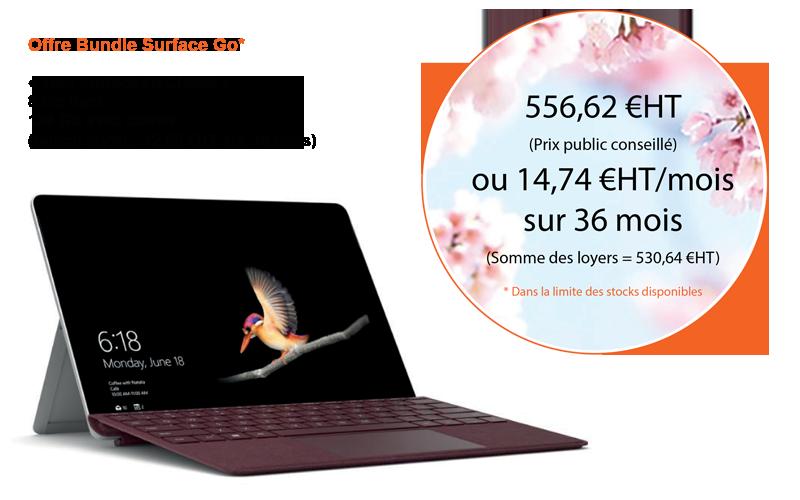 Offre Microsoft Bundle Surface Go